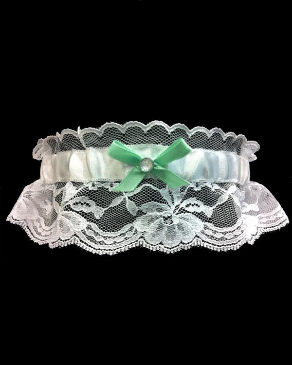 Prom Mint Green Lace Garter