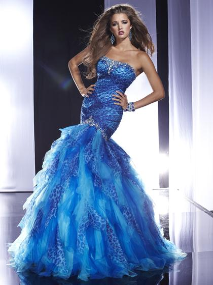 Panoply Mermaid Print Long 14460 Prom Dress 2013