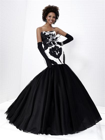 2012 Fit and Flare Mermaid Tiffany Prom Dress Style 16661