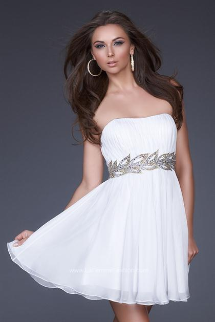 La femme 16824 at prom dress shop for White dress after wedding