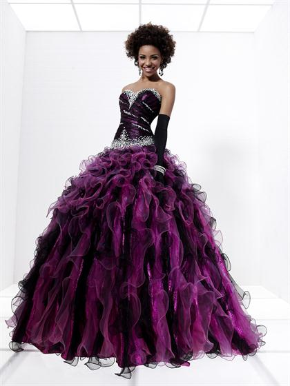 2012 Fit and Flare Tiffany Ball Gown Style 16891