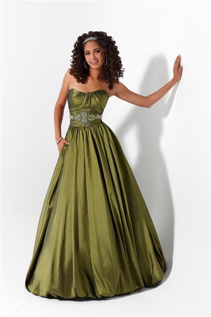 2012 Strapless A Line Flirt Prom Dress P1539