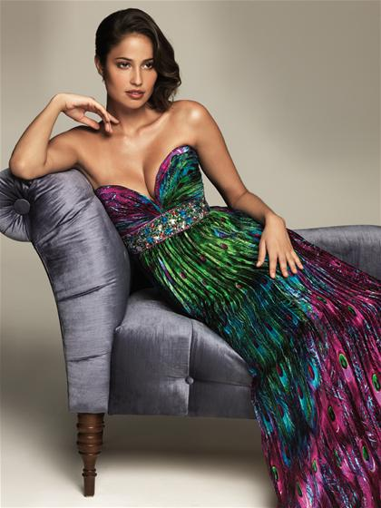 2013 Evenings by Allure Elegant Print Dress A401