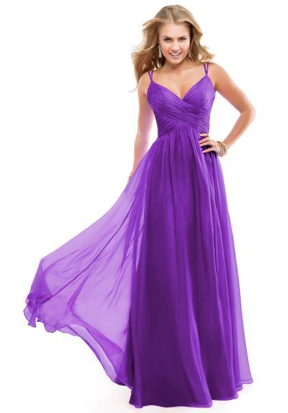 2014 Flirt Flowy Prom Dress P5891