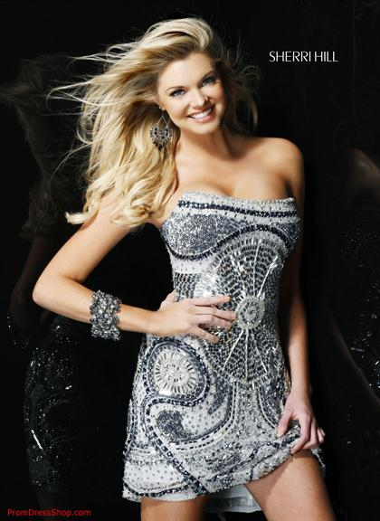 Sherri Hill Short Dress 2537 at Prom Dress Shop