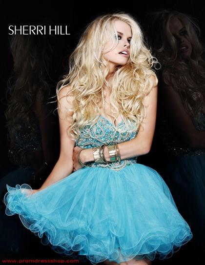 Sherri Hill Short Dress 2864 at Prom Dress Shop