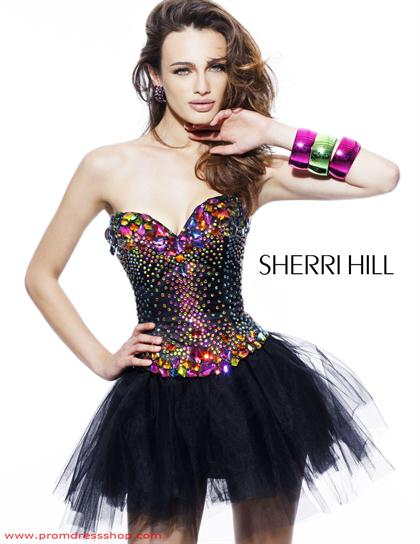 Sherri Hill Short Dress2885 at Prom Dress Shop 