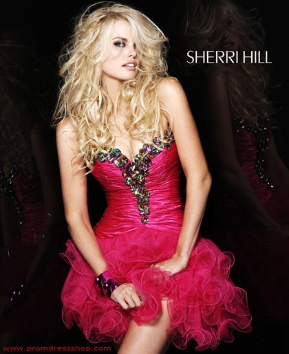 Sherri Hill Short Dress 2912 at Prom Dress Shop
