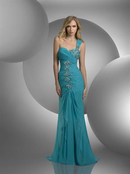 Fitted Ruched Prom Dress 59411 Shimmer 2012