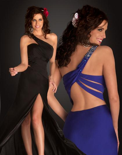 Flowy One Shoulder 2012 Flash Prom Dress 6193L