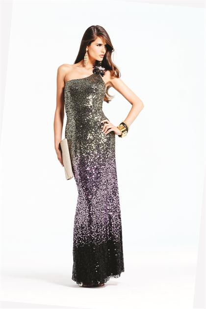Faviana 2013 One Shoulder Sequins Prom Dress 6961