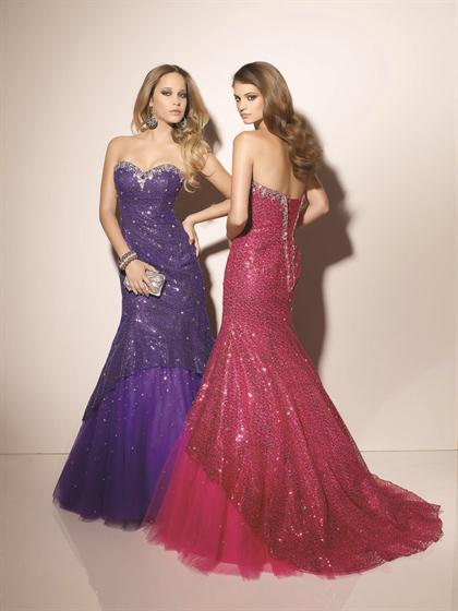 Mori Lee 2012 Fitted Torso Prom Dress 91003