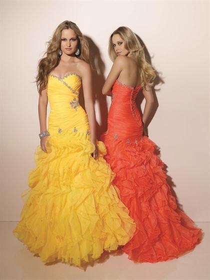 Bright Yellow and Bright Orange