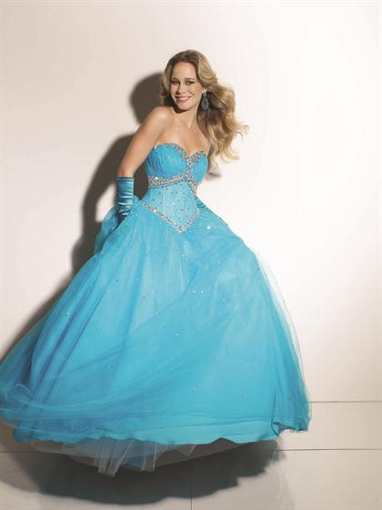 Mori Lee 2012 Sweetheart Neck Prom Dress 91053