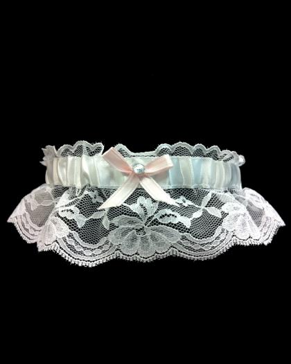 Lace Light Pink Prom Garter