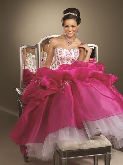 2012 Lace Back Vizcaya Quinceanera Dress 87095