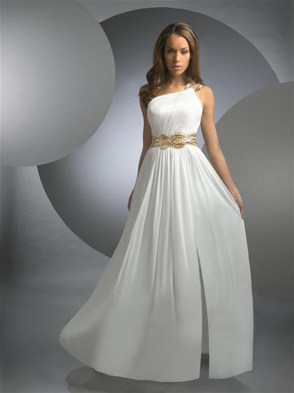 Shimmer 2013 One Strap Grecian Prom Dress 59223