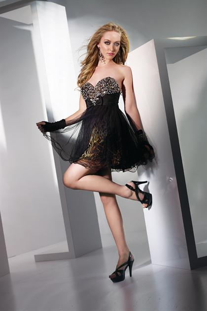 Short Strapless Alyce After Party Dress Style 4235