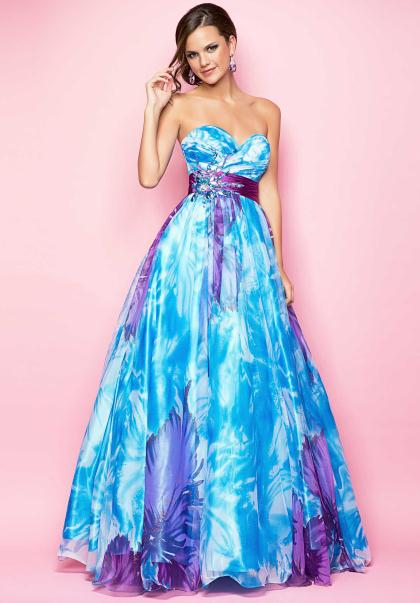 Blue And Purple Prom Dresses - Fashion Ideas
