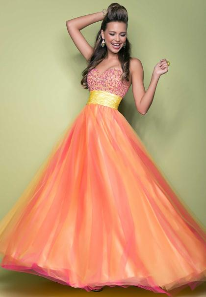 Yellow And Orange Prom Dresses 71