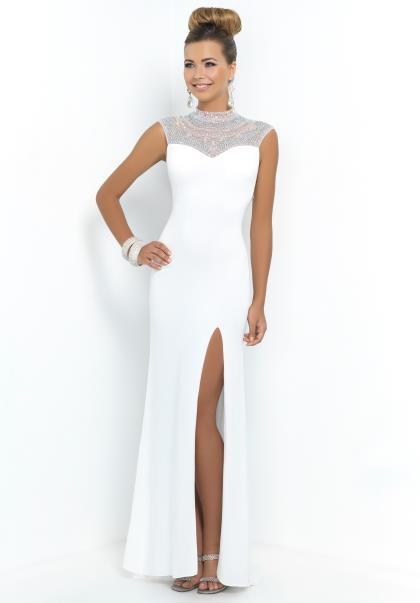 Blush Jersey Prom Dress 9988