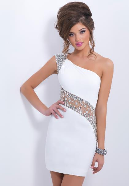 ONE SHOULDER HOMECOMING DRESSES - Omenas Benen