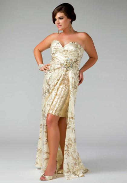 Plus Size Ivory Prom Dresses - Holiday Dresses