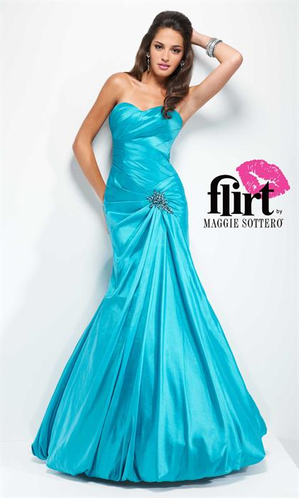 P2635 Flirt Sweetheart Fitted 2014 Prom Dress