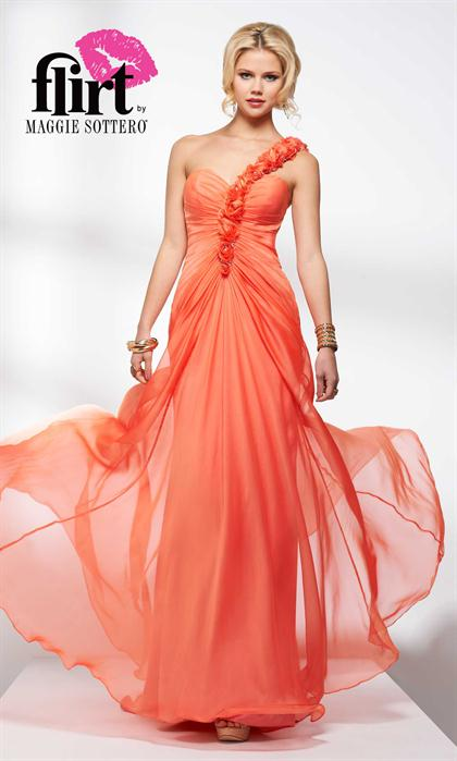 2014 Flirt Flowy Chiffon Long P4608 Prom Dress