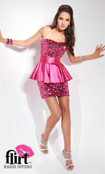 2012 Strapless Beaded Flirt Prom Dress P5651