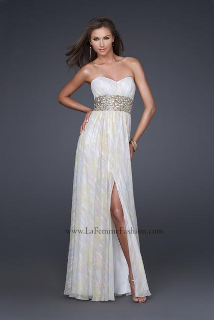 2012 Strapless Long La Femme Dress 16372