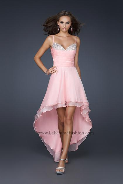 Fitted Torso La Femme Dress Style 17141