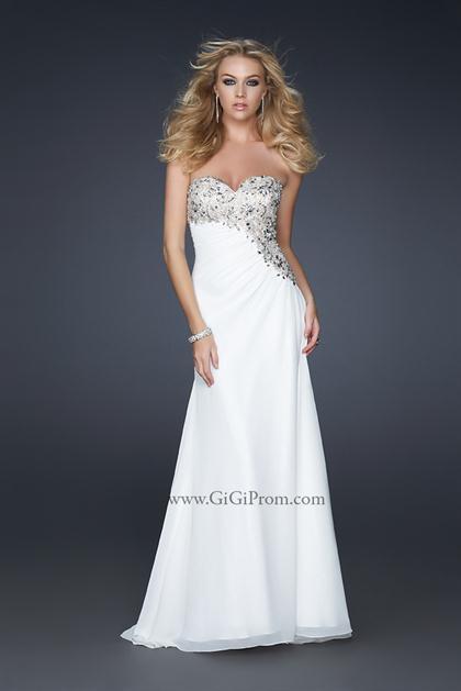 2012 Strapless La Femme Prom Dress style 17424