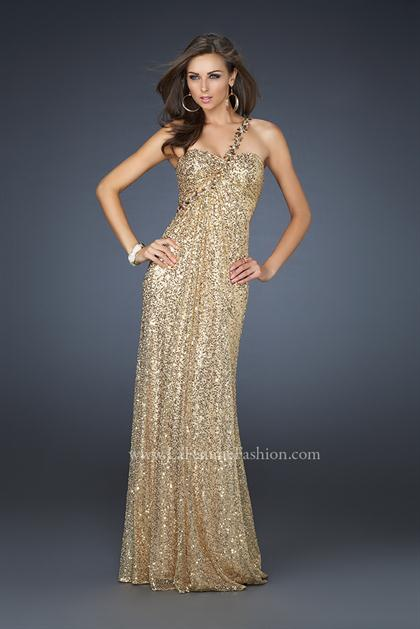 2012 La Femme Sequined Prom Dress 17697