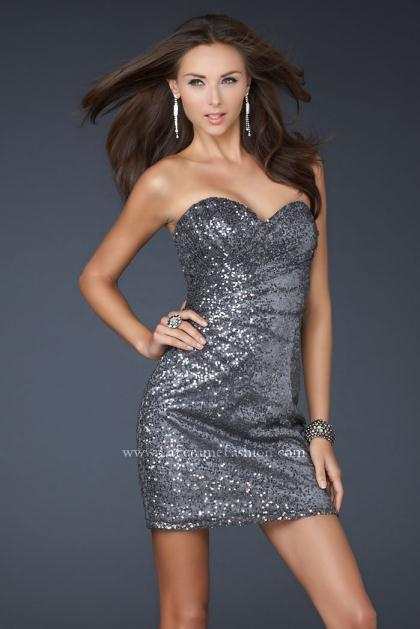 2012 Fitted Sexy La Femme Dress 17039