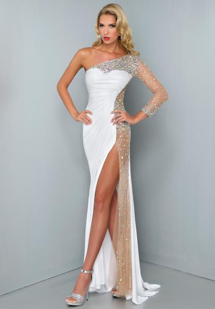 Prom Dresses With Slits And Lace 97
