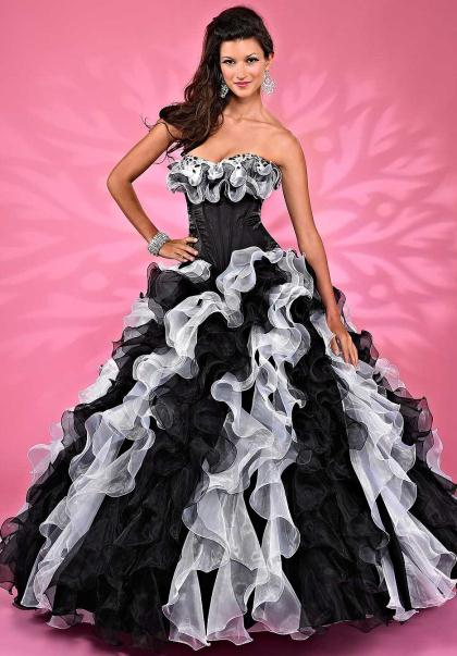 2014 Ruffled Skirt Landa Quinceanera Dress AQ14
