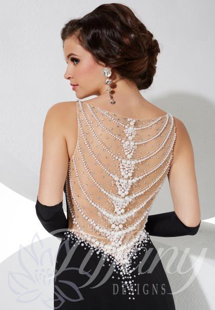 Tiffany black prom dress