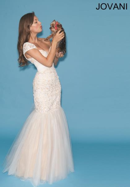 Jovani Tulle Skirt Dress 90503