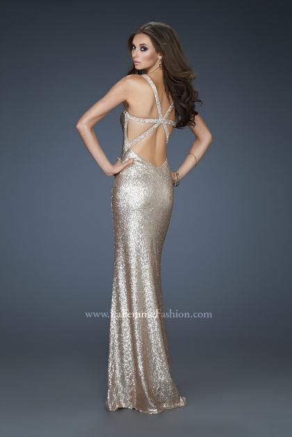 2013 Fully Sequined La Femme Prom Dress 18179