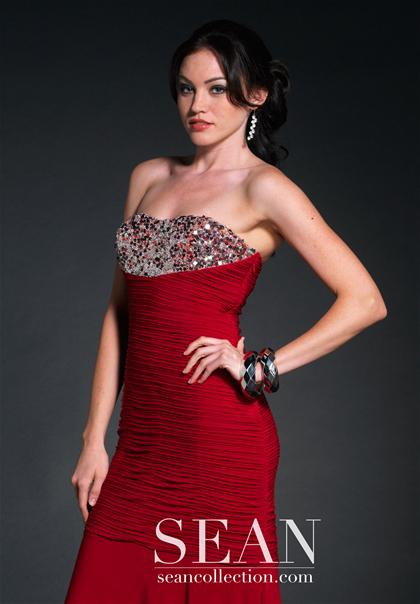 Ruched Sean Prom Dress 70509