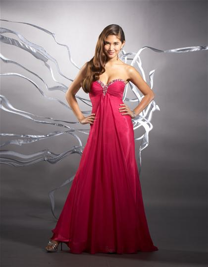 2012 Strapless Flowy Tiffany Prom Dress 16595