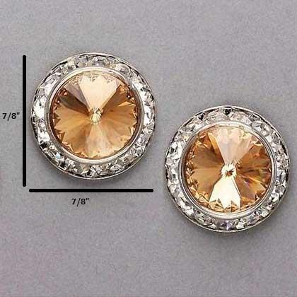 Crystal Gold Studs