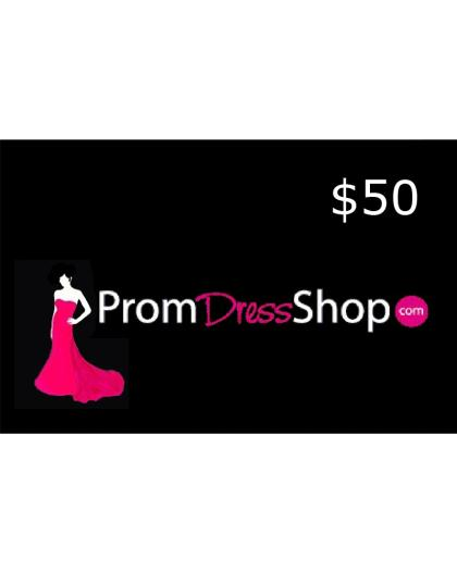 $50 PromDressShop Gift Card