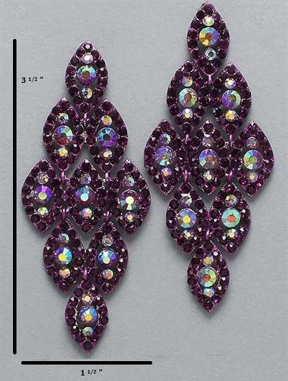 Chandelier Purple Earrings