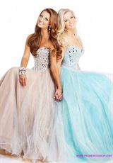 Sherri Hill 1434.  Available in Aqua/Silver, Gunmetal, Nude/Silver, Pink/Silver, White/Silver