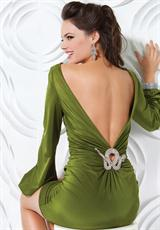 2012 Open Back Short Dress 171111 by Jovani