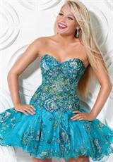 Jovani Cocktail 173321.  Available in Light Pink, Turquoise
