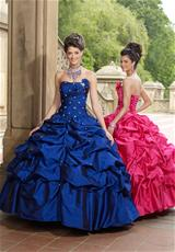Taffeta Quinceanera Dress 2012 by Vizcaya 87066