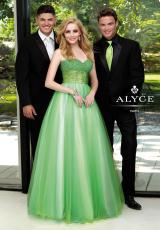 2013 Alyce Tulle Empire Waist Prom Dress 6060